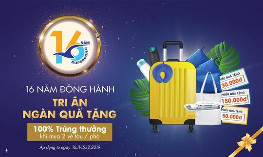Tàu cao tốc Superdong tri ân khách hàng nhân dịp tròn 16 tuổi - Ảnh 2.