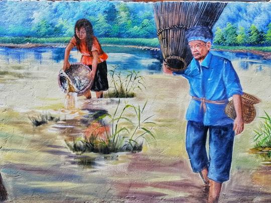 Lịm tim với những bức bích họa đầy màu sắc ở Chử Xá - Ảnh 7.