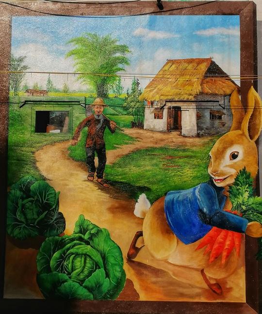 Lịm tim với những bức bích họa đầy màu sắc ở Chử Xá - Ảnh 8.