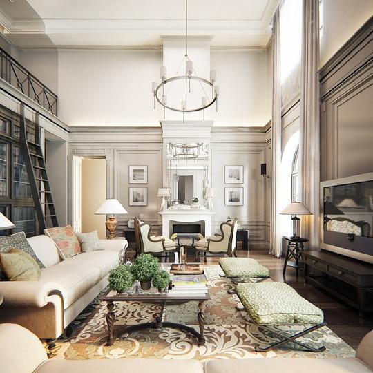 Căn hộ mang phong cách kiến trúc Pháp sang trọng - Ảnh 7.