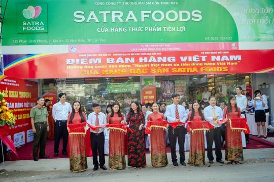 Satrafoods được chọn là điểm bán hàng Việt Nam cố định tại Cần Thơ - Ảnh 1.