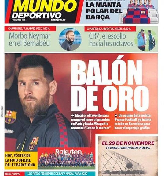 Truyền thông châu Âu khẳng định Messi giành Quả bóng vàng 2019 - Ảnh 1.