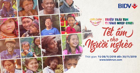 """Khởi động giải chạy """"Nụ cười BIDV - Tết ấm cho người nghèo 2020"""" - Ảnh 1."""