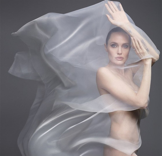 Angelina Jolie gây choáng với bộ ảnh nude ở tuổi 44 - Ảnh 3.