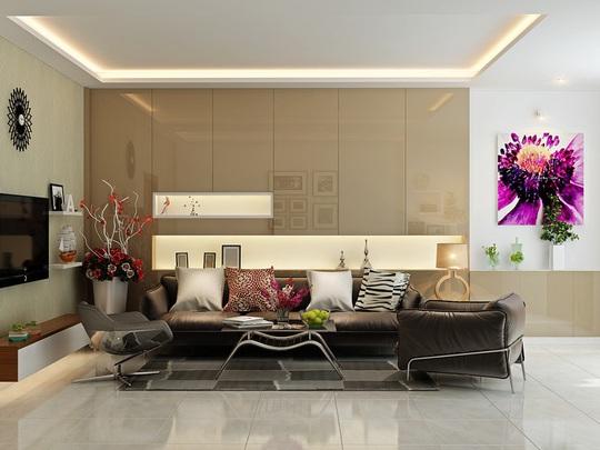 Mẫu phòng khách đẹp cho căn hộ chung cư - Ảnh 2.