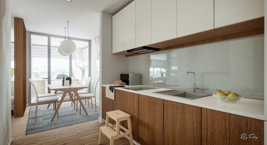 Căn hộ nhỏ sáng tạo với thiết kế đặc biệt biến phòng tắm thành trung tâm - Ảnh 9.