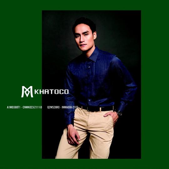 Thời trang Khatoco: Ghi điểm lịch lãm, phong thái sang trọng trong cuộc gặp cuối năm - Ảnh 4.