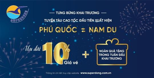 Superdong khai trương tuyến tàu cao tốc Phú Quốc - Nam Du - Ảnh 2.