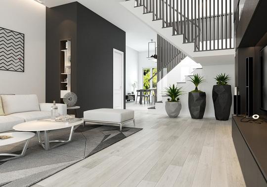 Ngôi nhà có nội thất hai màu đen trắng tuyệt đẹp - Ảnh 2.