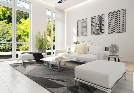 Ngôi nhà có nội thất hai màu đen trắng tuyệt đẹp - Ảnh 4.
