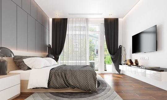 Ngôi nhà có nội thất hai màu đen trắng tuyệt đẹp - Ảnh 7.