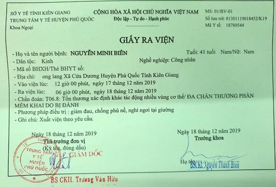 Công an cho quản lý khách sạn ở Phú Quốc nhận dạng nghi phạm đánh mình - Ảnh 1.