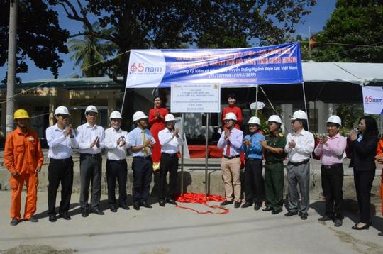 Gắn biển hoàn thành công trình cấp điện lưới quốc gia tại xã đảo Tiên Hải - Ảnh 1.