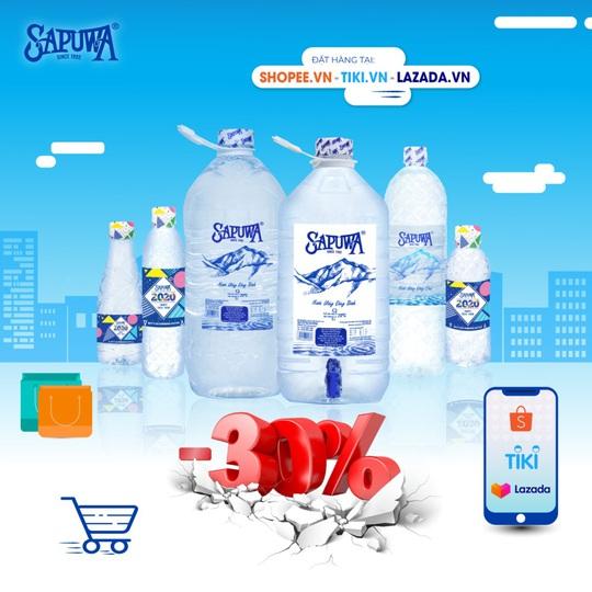 SAPUWA tưng bừng khuyến mãi trên kênh Tiki và Shopee - Ảnh 1.