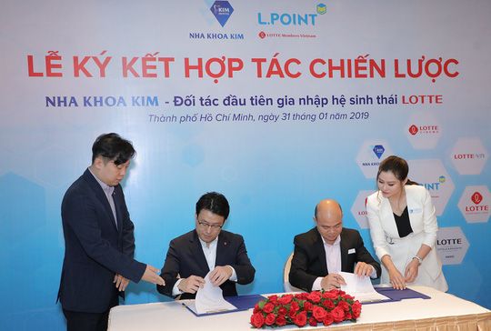 Nha khoa Kim là doanh nghiệp đầu tiên tham gia vào hệ sinh thái của Tập đoàn Lotte - Ảnh 1.
