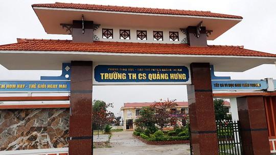 Trường THCS Quảng Hưng nơi xảy ra nhiều sai phạm trong công tác quản lý, điều hành tài chính