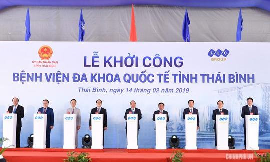 Thủ tướng dự lễ khởi công bệnh viện quốc tế 1.000 giường, tổng vốn 3.700 tỉ đồng - Ảnh 1.
