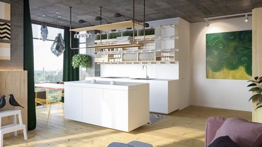 Tủ bếp hiện đại, độc đáo - Ảnh 2.