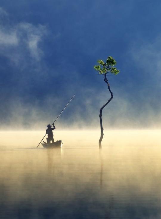 Sương giăng trên hồ Tuyền Lâm vào top ảnh đẹp trên báo Mỹ - Ảnh 1.
