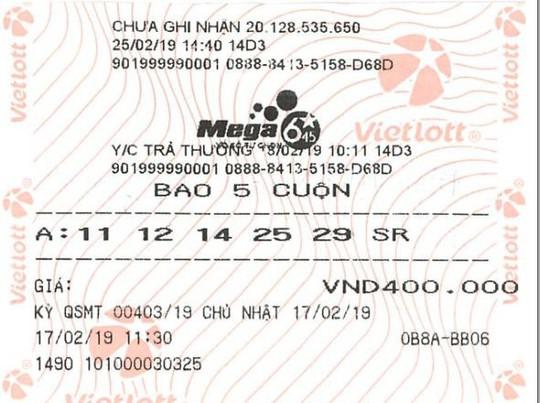 Mua vé Vietlott theo ngày sinh, số nhà, biển số xe… trúng 21,9 tỉ đồng - Ảnh 2.