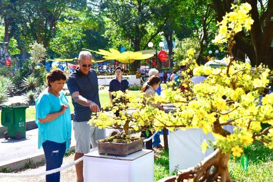 Du khách nước ngoài ca ngợi Hội Hoa Xuân Tao Đàn - Ảnh 4.