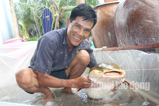 """Lão nông Bạc Liêu sở hữu """"thủy quái"""" vùng Amazon nặng 15 kg - Ảnh 1."""