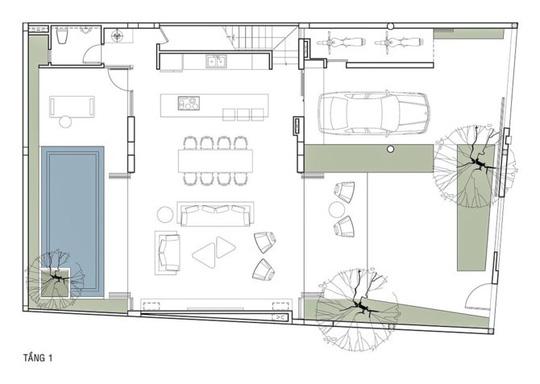 Phòng khách thông hai đầu ra vườn ở biệt thự  - Ảnh 12.