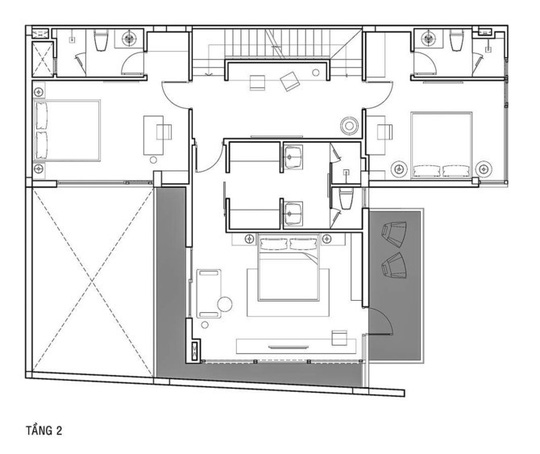 Phòng khách thông hai đầu ra vườn ở biệt thự  - Ảnh 13.