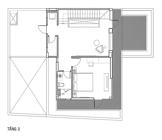 Phòng khách thông hai đầu ra vườn ở biệt thự  - Ảnh 14.