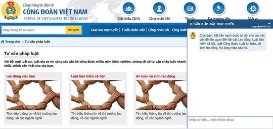 Tổng LĐLĐ Việt Nam chính thức khai trương hệ thống tư vấn pháp luật trực tuyến - Ảnh 2.