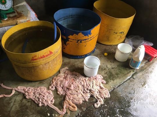 Phát hiện cơ sở sơ chế nội tạng không rõ nguồn gốc nằm gần bãi rác - Ảnh 1.