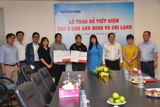 Vụ tai nạn giao thông thương tâm ở Bình Dương: Báo Người Lao Động trao sổ tiết kiệm cho 3 cháu nhỏ - ảnh 2