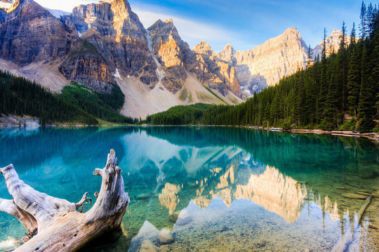 Vẻ đẹp siêu thực của hồ Moraine - Ảnh 4.