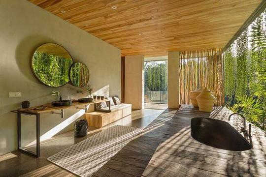 Căn nhà giữa rừng rậm vừa đẹp vừa tiện nghi - Ảnh 13.