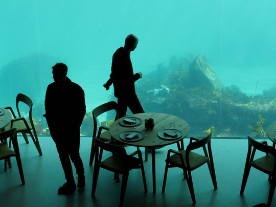 Độc đáo nhà hàng dưới biển - Ảnh 1.