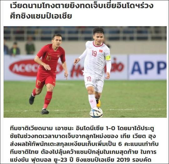 Báo Thái châm chọc U23 Việt Nam thắng may Indonesia - Ảnh 2.