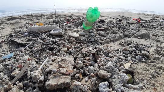 Hàng chục tấn rác bủa vây hơn 2 km bờ biển Đà Nẵng - Ảnh 11.