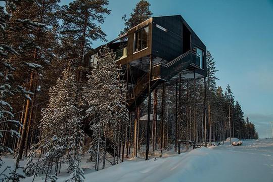 Báo Tây trầm trồ với căn nhà kính treo lơ lửng giữa rừng cây - Ảnh 17.