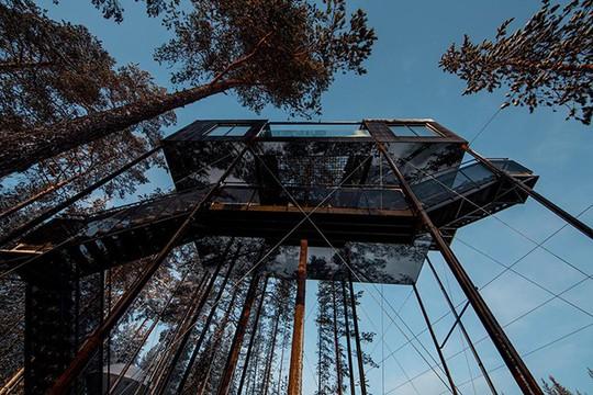 Báo Tây trầm trồ với căn nhà kính treo lơ lửng giữa rừng cây - Ảnh 9.
