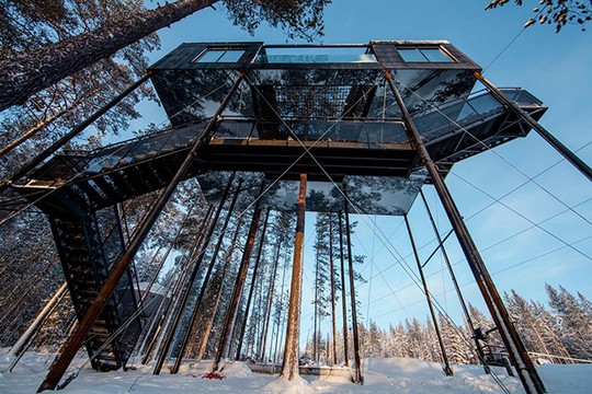 Báo Tây trầm trồ với căn nhà kính treo lơ lửng giữa rừng cây - Ảnh 11.