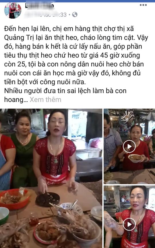 Tiểu thương tổ chức nấu ăn, quay video kêu gọi đừng quay lưng với thịt heo sạch - Ảnh 2.