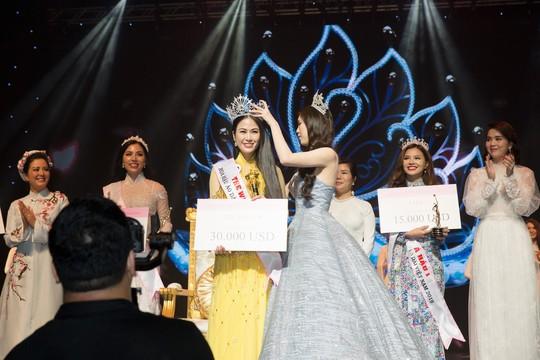 Mỹ nhân Sao Mai Tuyết Nga đăng quang Hoa hậu áo dài Việt Nam - Ảnh 2.