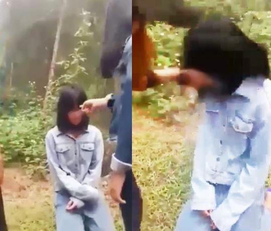 Xuất hiện clip nữ sinh lớp 7 bị nhóm bạn nữ bắt quỳ, tát vào mặt - ảnh 1