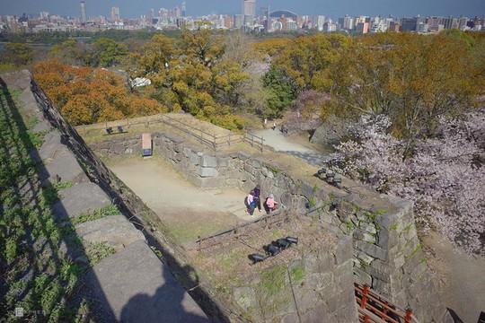 Thành cổ hơn 400 năm ở Nhật ngập trong sắc hoa anh đào - Ảnh 1.
