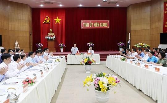 Hình ảnh Tổng Bí thư, Chủ tịch nước Nguyễn Phú Trọng làm việc ở Kiên Giang - Ảnh 10.