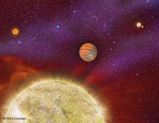 Ảnh đồ họa của NASA về một hệ hành tinh có siêu trái đất