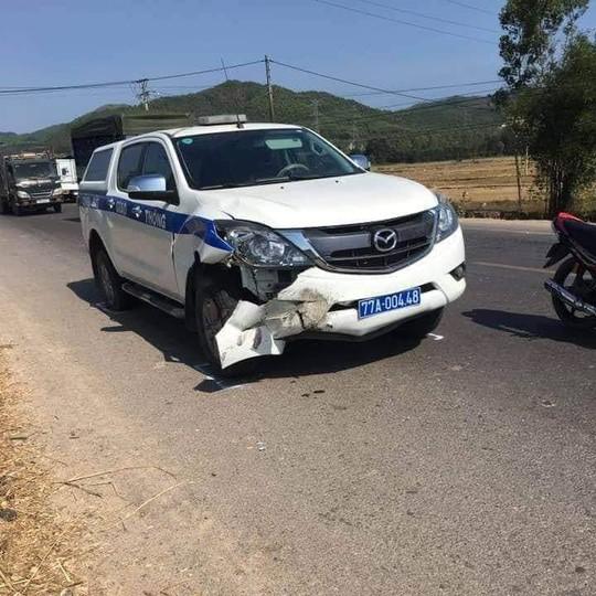 Xe CSGT Bình Định gây tai nạn chết người khi đi tuần tra - ảnh 1