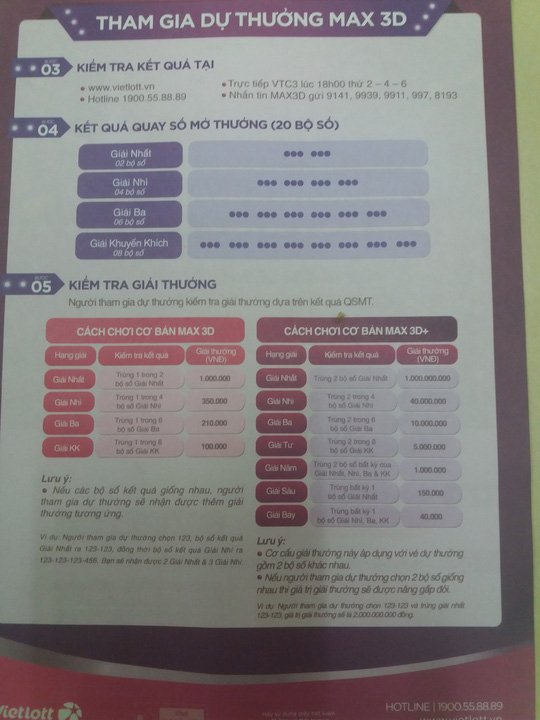 Vietlott sắp tung ra vé số Max3D trúng 20 tỉ đồng