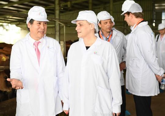 Thứ trưởng Hà Lan thăm dự án phát triển vùng chăn nuôi bò sữa tại Hà Nam - Ảnh 3.