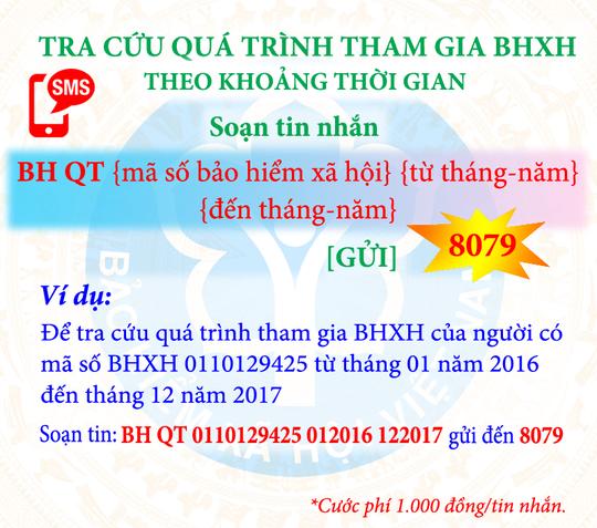 Tra cứu đóng, hưởng BHXH, BHYT bằng tin nhắn điện thoại - Ảnh 3.